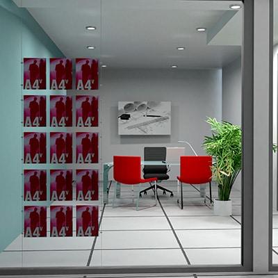 I 3 migliori espositori per vetrine agenzie espositori totem for Arredamento per agenzia immobiliare