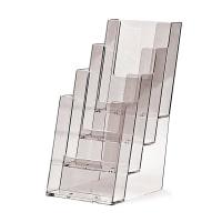 Portadepliant 4 tasche 1/3 di A4 in plexiglass