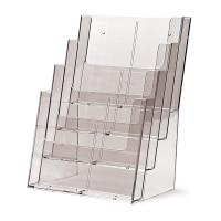 Porta Depliant da banco 4 tasche A4 in plexiglass