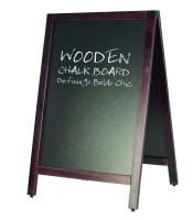lavagna a cavalletto in legno scrivibile