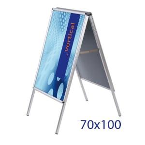 cavalletto pubblicitario economico 70x100 in alluminio