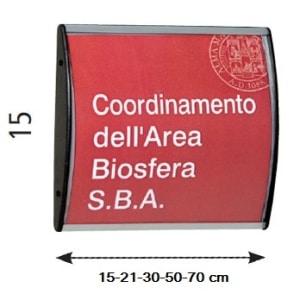Targhette da ufficio h 15 cm arc in alluminio convesso - Targhette porta ...