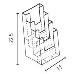 Portadepliant 4 tasche 1/3 di A4 in plexiglass_misure