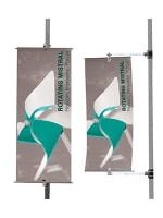Bandiera per pali o pareti Rotating Mistral