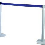 Colonnina con nastro blu da 3 metri grigia