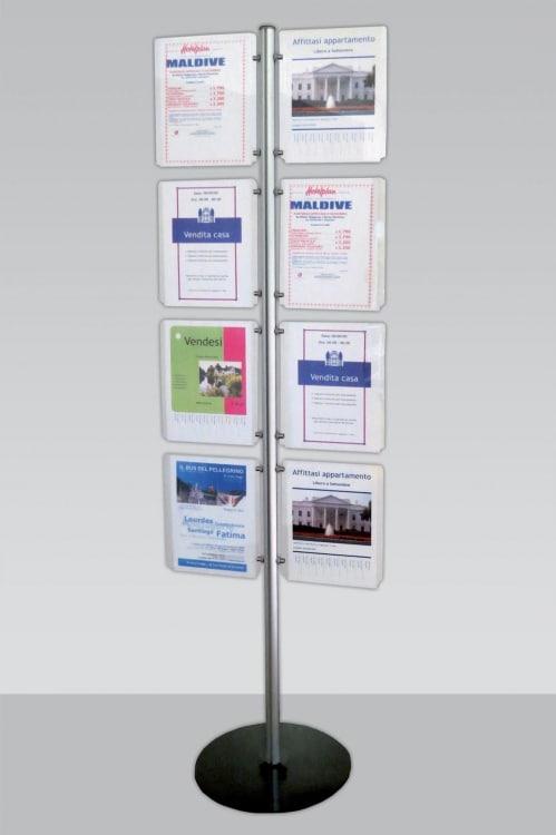 Espositore porta avvisi 8 spazi A4 verticale Mast023
