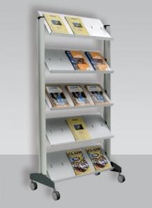 Espositore porta cataloghi con ruote DOL