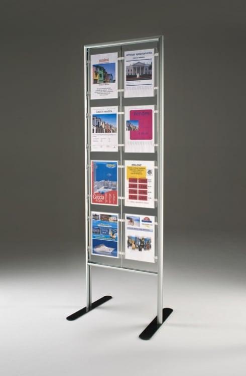 Espositore Fly con 8 cartelli A4 vetricale per agenzie