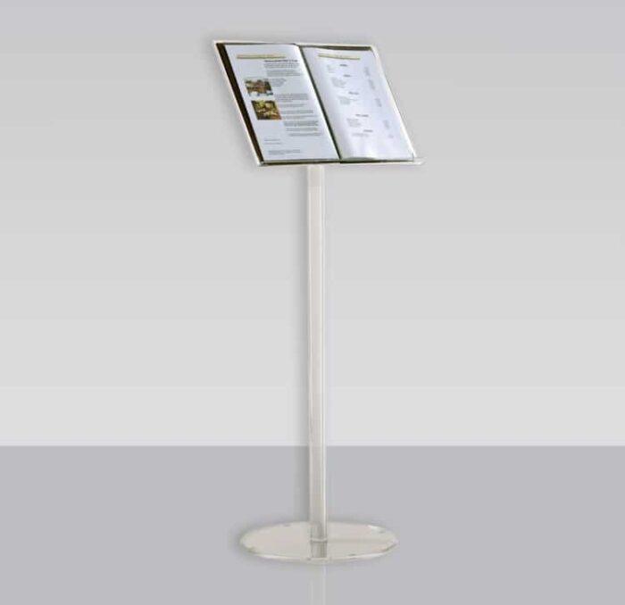 Leggio espositore in plexiglass da pavimento 32x48 cm