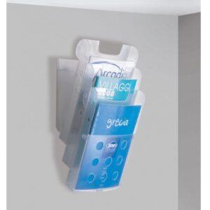 Porta depliant da parete 3 tasche A4