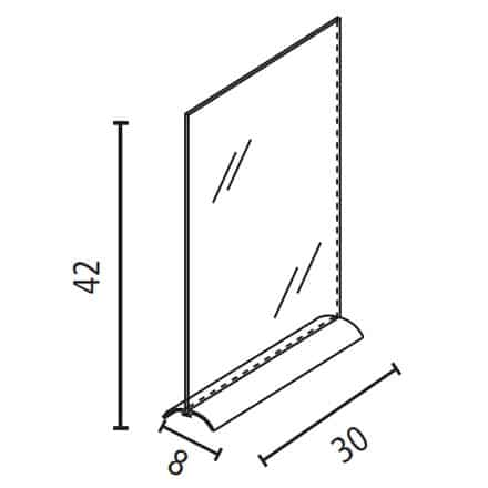 Porta comunicazioni A3 con base alluminio Luxe