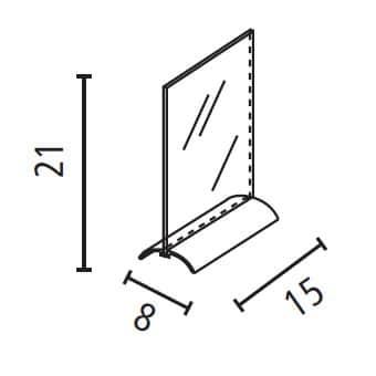 Porta comunicazioni A5 con base alluminio Luxe