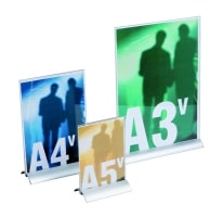 Porta comunicazioni con base alluminio Luxe
