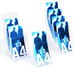 porta depliant in plexiglass 1/3 di A4