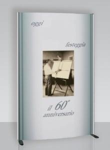 Struttura totem estendibile da 40 a 120 cm per totem pubblicitario_xt200