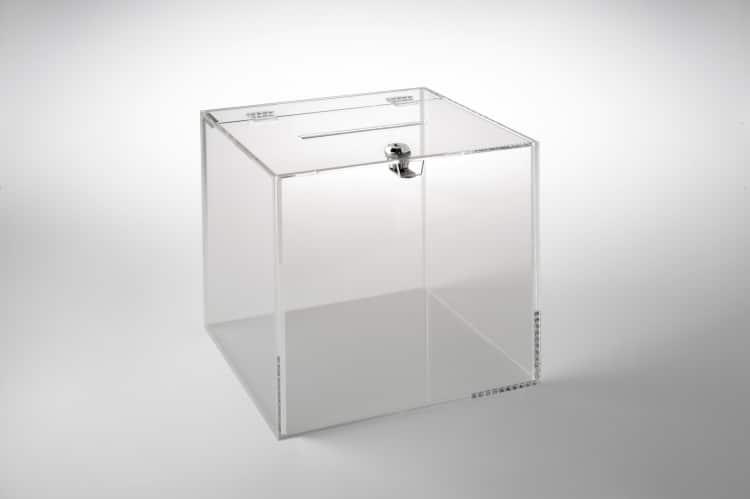Teca in plexiglass con serratura