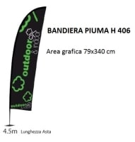 bandiera Piuma H 406