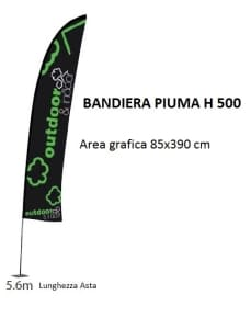 bandiera Piuma H 500