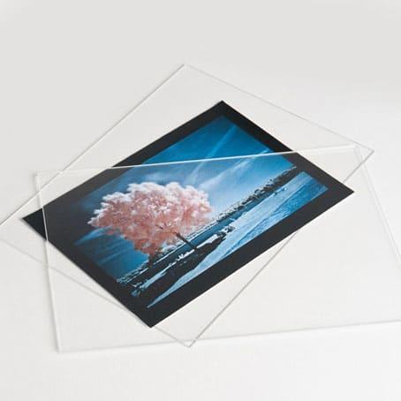 coppia di lastrine plexiglass