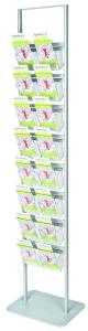 Porta depliant 16 tasche 1/3 di A4 monofacciale Styloso