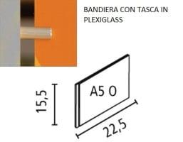 targa bandiera plexi 15x21