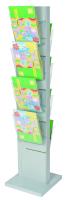 Porta depliant a colonna in metallo H140 cm