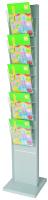 Porta depliant a colonna in metallo H180 cm