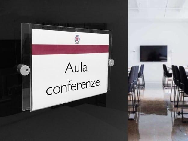 cartello porta segnalitica in plexiglass Air