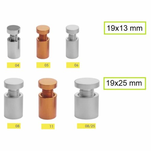 distanziali per targhe in alluminio