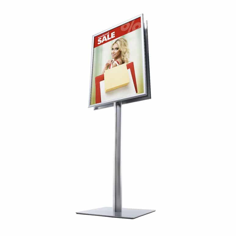 Supporto porta manifesti 70x100 cm pubblicitari da terra