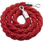 Cordone intrecciato rosso con moschettoni silver