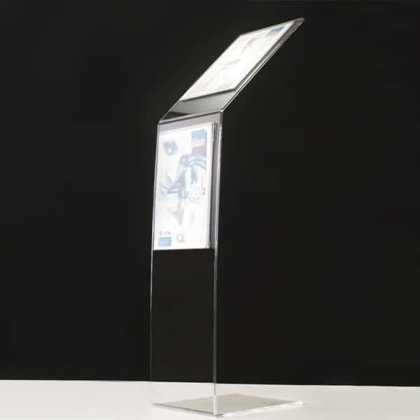 Leggio Da Terra Plexiglass.Leggio Espositore In Plexiglass Da Pavimento 32 48 Cm