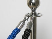 Palina argento con corda blu o nera