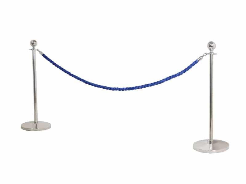Colonne silver con cordone blu 2 mt