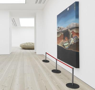 Colonna sottile per musei con cordino