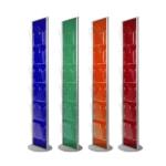 Porta depliant a colonna colorato_semi trasparente