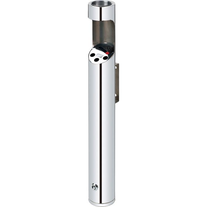 Posacenere gettasigarette a cilindro in acciaio da esterno