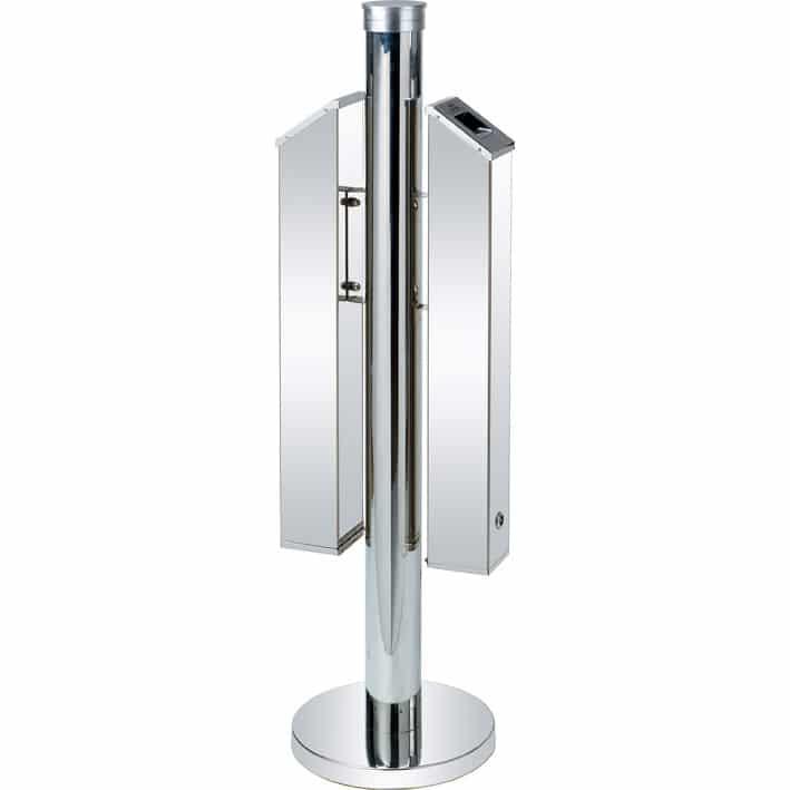 Porta cenere a colonna da esterno con doppio contenitore