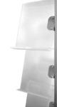 Ripiani inclinati-singoli-plexi trasparente