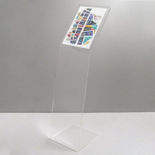 Espositore per schede auto trasparente 2xA4