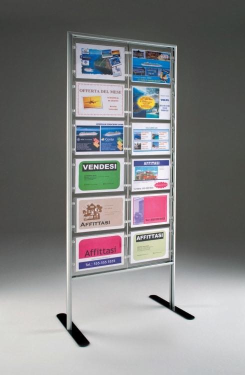 Espositore Fly con 12 cartelli A4 orizzontale per agenzie