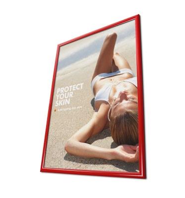 Cornice porta pubblicità rossa