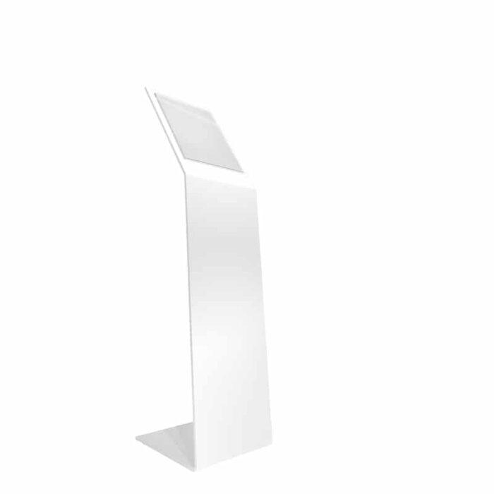 Espositore a leggio porta comunicazioni A4 in metallo bianco