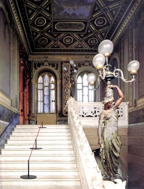 Colonna delimitaspazi per musei H 45 o 90 cm