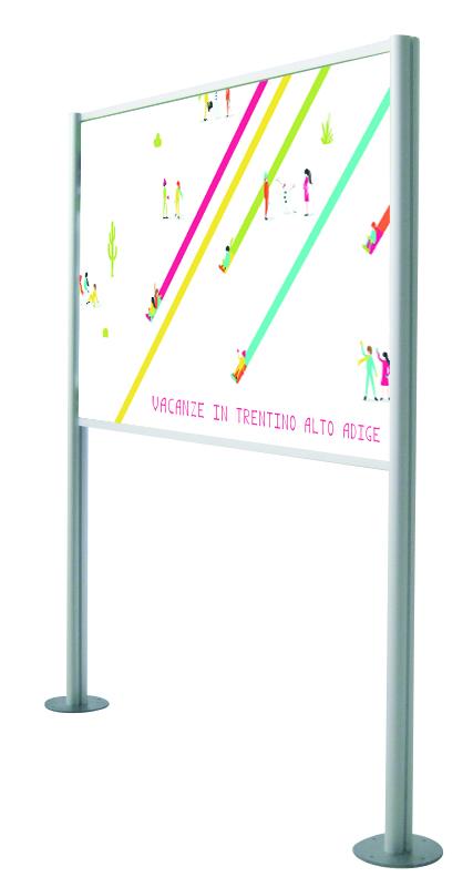 Pannello informativo per musei all'aperto