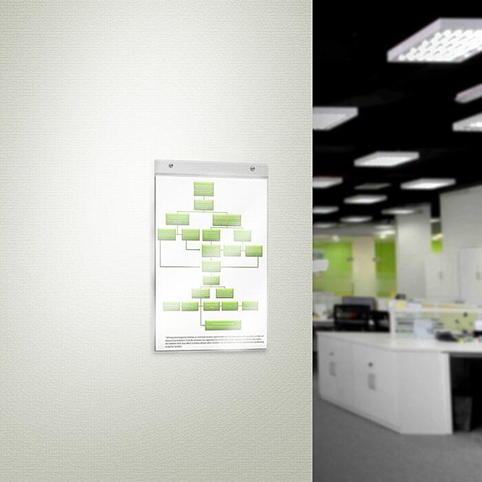 Porta comunicazioni da muro  in plexiglass