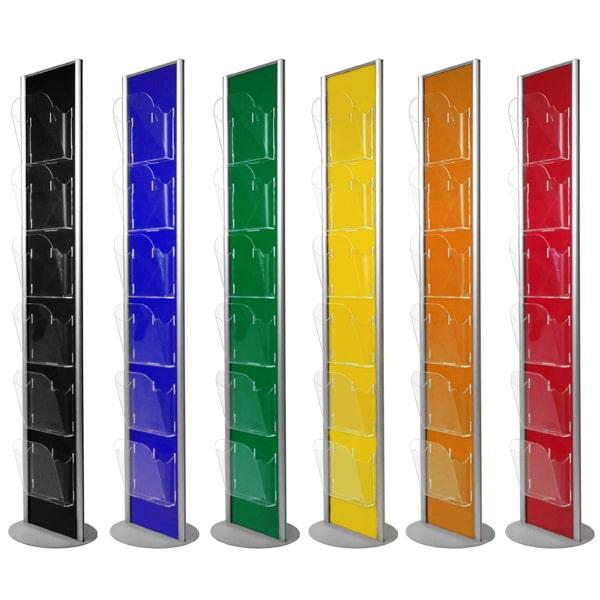 Porta depliant a colonna colorato_colori pieni