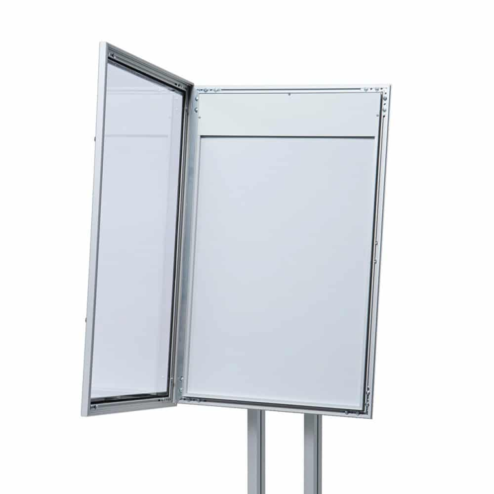 Anta apertura porta menu da esterno silver