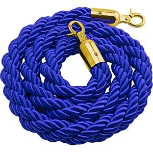 Cordone 2 metri blu gancio oro