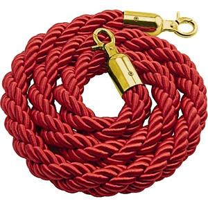 Cordone 2 metri rosso gancio oro
